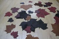 Soft Leather  Maple Leaf  Wine Glass Coaster x6